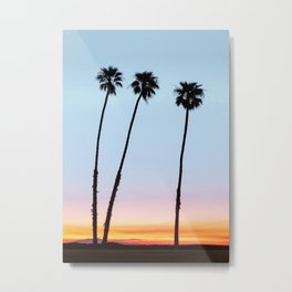 Sunrise on the Ocean Coast Metal Print