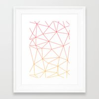 polygon Framed Art Prints featuring polygon by OHOO SIX