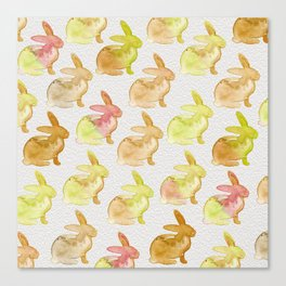 Watercolor Bunnies 1G by Kathy Morton Stanion Canvas Print