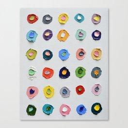 Concentric Polka Daubs Canvas Print