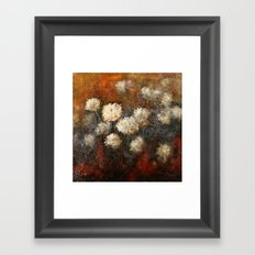 Golden Blossoms Framed Art Print