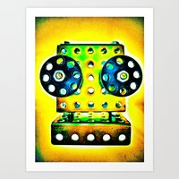 dj Art Prints featuring DJ by Yukska