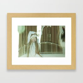 the unbearable tunnel of light and happiness Framed Art Print