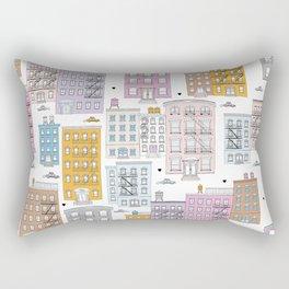 Manhattan brownstones New York travel pattern Rectangular Pillow