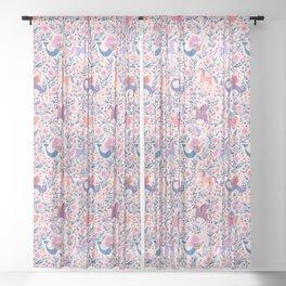 Fairy Folk Floral Sheer Curtain