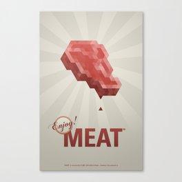 Enjoy! Meat Canvas Print