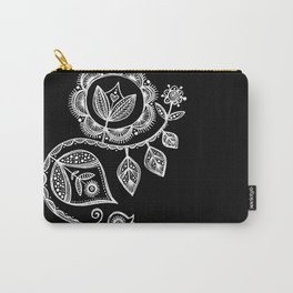 White Flower 15 Carry-All Pouch