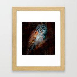 Abstract Barred Owl Framed Art Print