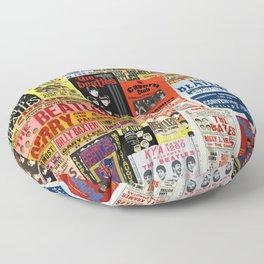 Vintage Rock Concert Posters Floor Pillow