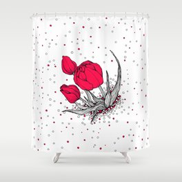 More tulips! Shower Curtain