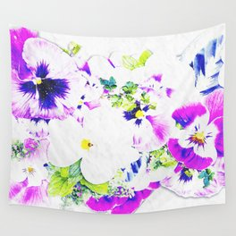 Paper Flowers Wall Tapestry
