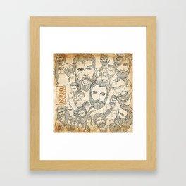 Bearded Beauties 1 Framed Art Print