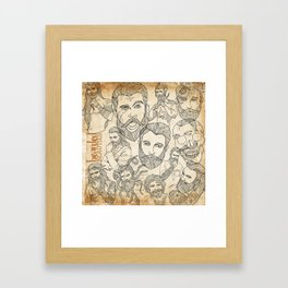 Bearded Beauties 1 Framed Art Print