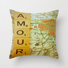 Love, Paris Throw Pillow