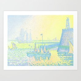 "Paul Signac ""Evening (The Jetty of Vlissingen) (Abend-La jetée de Flessingue)"" from the journal Pan Art Print"
