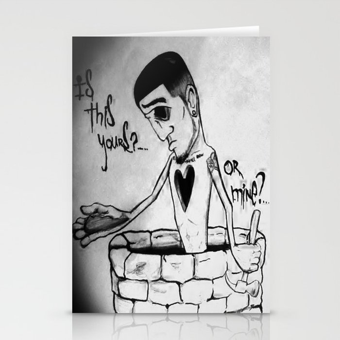 Is this yours or mine? Stationery Cards