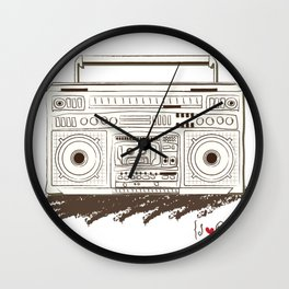 I {❤} RADIO Wall Clock