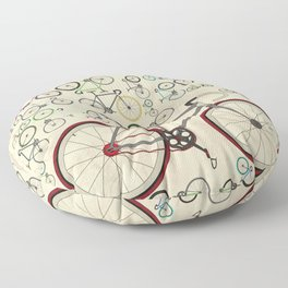Love Fixie Road Bike Floor Pillow