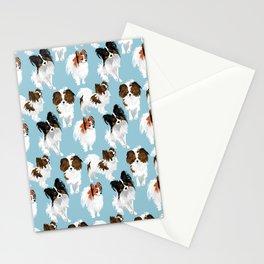 Papillon on blue Stationery Cards