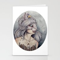 caitlin hackett Stationery Cards featuring At What Cost by Caitlin Hackett