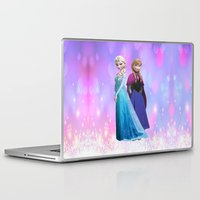 duvet cover Laptop & iPad Skins featuring Frozen anna elsa duvet cover by customgift