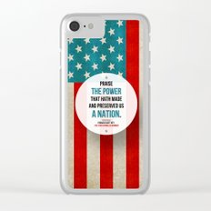 Preserved us a Nation Clear iPhone Case