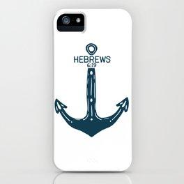 Hebrews Anchor iPhone Case