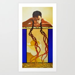 My Braids Art Print