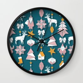 Origami Christmas Dream Catcher Wall Clock