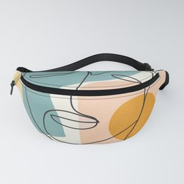 Abstract Face 25 Fanny Pack