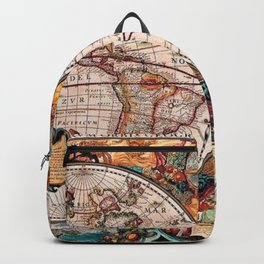 Gorgeous Old World Geographical Map Backpack