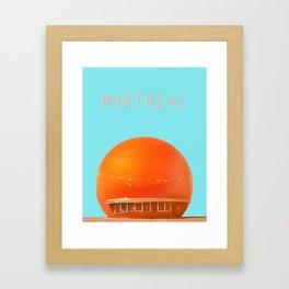 MONTREAL PASTEL Orange Julep Framed Art Print