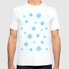 Stars - blue and white. White MEDIUM Mens Fitted Tee