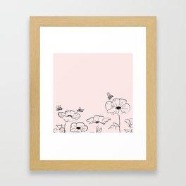 Poppies & Honeybees Framed Art Print
