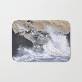 SPLASHING OCEAN WAVE Bath Mat