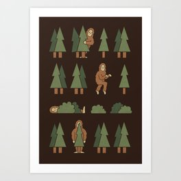 Bigfoot Forest Art Print