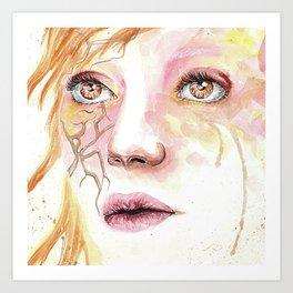 Beautiful even after broken Art Print