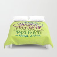 zappa Duvet Covers featuring Frank Zappa on Progress by Josh LaFayette