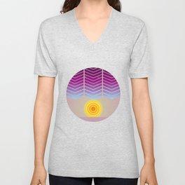 Sunset (Geometric abstract) Unisex V-Neck