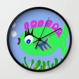 Fishy Fashion Wall Clock
