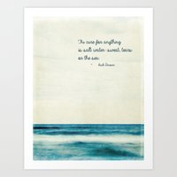 the cure Art Prints featuring the cure by Bonnie Jakobsen-Martin