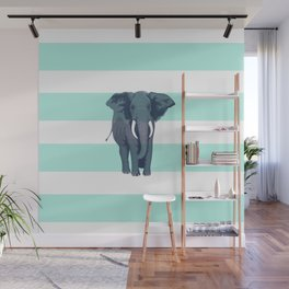 The Green Elephant Wall Mural