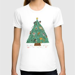 A messy Holiday T-shirt