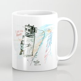 """I Wuv you Robot"" Coffee Mug"