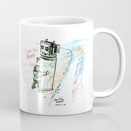 """""""I Wuv you Robot"""" Coffee Mug"""