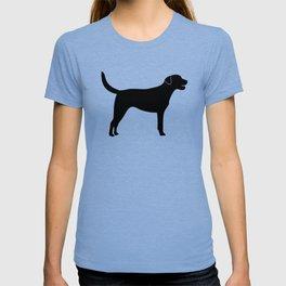 Black Labrador Retriever Silhouette T-shirt
