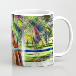 Abstract horse standing at gate Coffee Mug