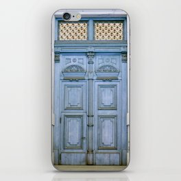 Door Series - Blue Door II iPhone Skin