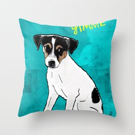 Dog Rat Terrier Throw Pillow