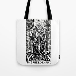 Modern Tarot Design - 5 The Hierophant Tote Bag